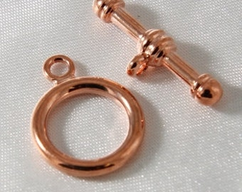 2 sets - 17mm Bright Copper Plated Toggle Clasp