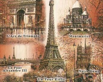2 monument in Paris paper napkins (317)