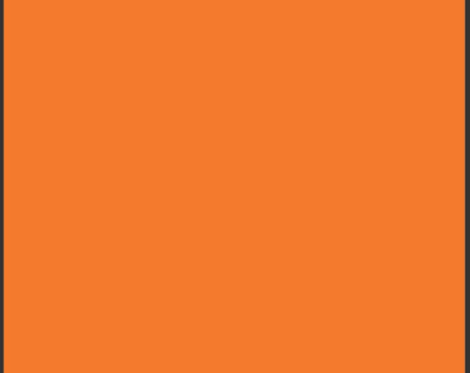 One Yard Burnt Orange- Pure Elements Solid Cotton Quilt Fabric - from Art Gallery Fabrics - PE-406 (W488)