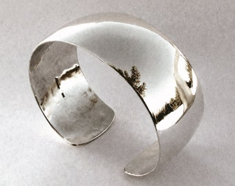 Sterling Silver Bracelet, Smooth and Polished Cuff