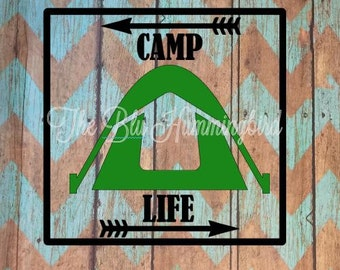 Camping Decal; Happy Camper; Camping Decor; Camping Signs; Camper Decor; Camper Sign; Camper Decal; Personalized Camper