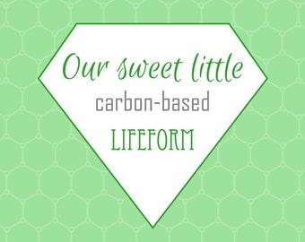 Nursery Prints, Printable Wall Art, Carbon-based Lifeform, Digital Prints, Green Print, Science Print, Nerd Print, Geek Print, Printable Art