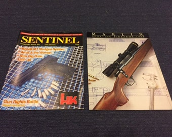Vintage Marlin and HK Firearm Product Catalogs