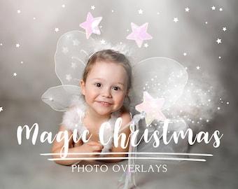 50 Magic Christmas photo overlays