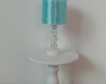 Doll Lamp for Barbie - LED Fashion Doll Lamp Teal & Clear