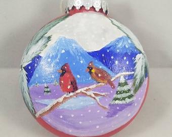 Cardinal Pair Ornament