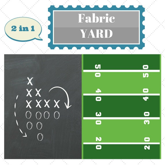 Fabric by the Yard - Football Game Plan Sports Fabric, Upholstery, Quilting, Linen, Cotton, Minky, Fleece, Organic Cotton, DIY