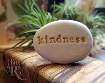 Rock art kindness stone | spiritual gift under 10 | holiday party stones | small kindness favors