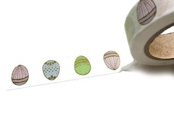 Pastel Easter Egg with Gold Foil Washi Tape