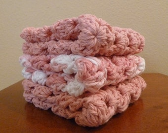 Crochet Granny Square Dishcloths (Set of Three)
