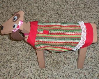 Red & Green Christmas Dog Dress