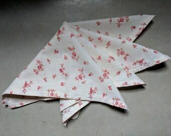 Vintage Floral Print Handkerchiefs