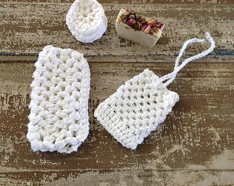 Hand Crocheted Cotton Spa Set