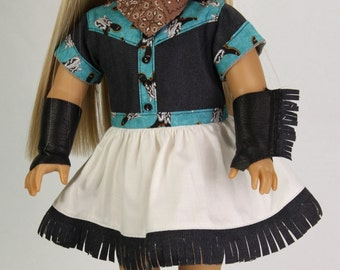 Summertime Rodeo Roundup Outfit for 18 inch Dolls such as AG