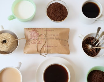 Coffee of the month club with gift tin // Last Minute Gift Idea.  Ready to Ship. Gourmet Gift.