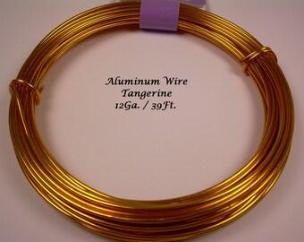 Anodized Aluminum 12ga wire 39 Ft Tangerine Color Soft
