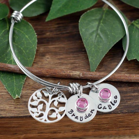 Personalized Name Bracelet, Family Tree Bracelet for Grandma, Mother Gift, Gift for Mom, Wedding Gift, Gift for Mother, Gift for Grandma