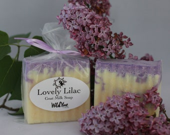 Lovely Lilac Goat Milk Soap
