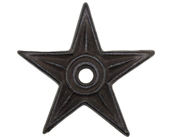 Outlaw Iron Works (802-DP-31711) 4'' Metal Star, Bronze - Lot of 10