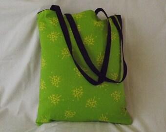 Zelda over shoulder tote bag, handmade
