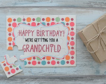 Pregnancy Announcement to Grandparents, Pregnancy Reveal Puzzle, New Grandma Birthday Gift, Grandpa Birthday Gift, Going To Be Granparents