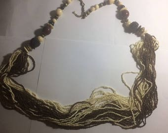 """Beaded necklace-36"""" long"""