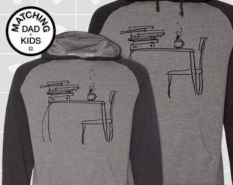 SALE! Matching Dad & Son Sunday Morning Hoodies | Father Son Matching Shirts | Dad Son Matching Shirts | Literary Gift | Daddy and Me