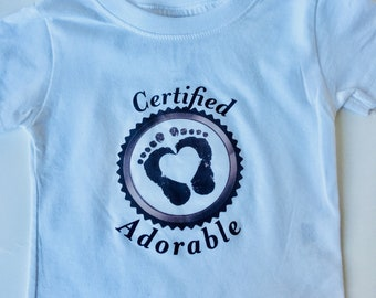 Certified Adorable Baby T-shirt