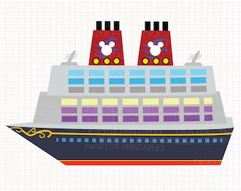Disney Cruise Ship Digital CLIP ARTS personal and commercial use for invitations, cupcake toppers, birthday cards, party supplies