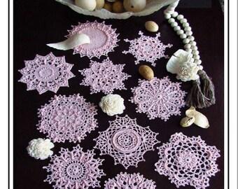 Two Dozen COUNTRY COASTERS Crochet Patterns By Patricia Kristoffersen PDF Textured Thread Design
