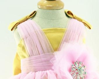 Infant Glitz Pageant Dress, Birthday Dress for Girls, Baby Dress, Easter Dress LG003
