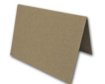 BROWN BAG KRAFT A6 folded cards 25 pk