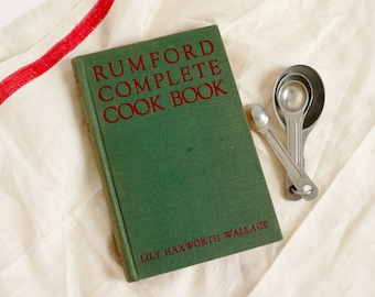 Vintage 1930s Cookbook, Rumford Complete Cookbook 1935 Hc Lily Haxworth Wallace, Recipes Using Rumford Baking Soda