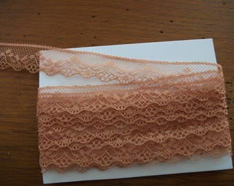 6.00 m lace taupe / beige 2 cm wide - decoration, sewing creation.