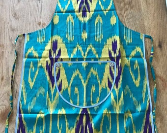 Handmade Apron from Uzbekistan in Traditional Material
