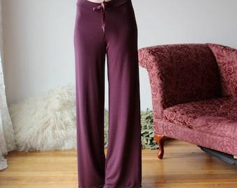 bamboo pajama pants or lounge pants with drawstring waistband - NOUVEAU bamboo sleepwear range - made to order