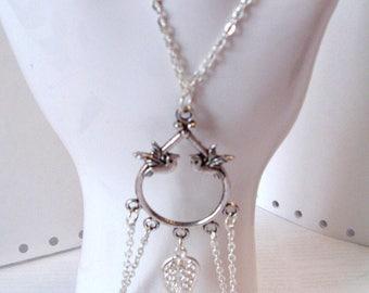 slave bracelet, silver ring bracelet