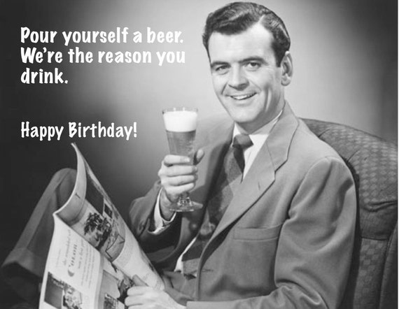Hilarious Retro Card Vintage Were The Reason You Drink Dad Birthday 814 016