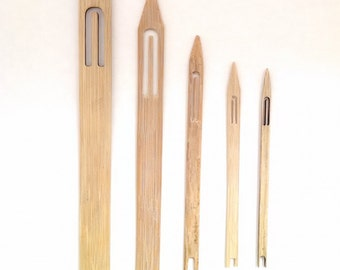 Bamboo Netting Shuttles for making Netted Lace, Nets or Fish Nets. Also used as Weaving Shuttles