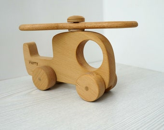 Wooden  Helicopter -FREE personalized, Baby room, Handmade toy, Eco friendly toy, Wooden toys.
