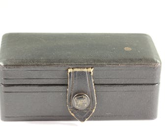Small Antique Black Gem Razor Shaving Kit Storage Box - Storage Box - Little Black Stash Box