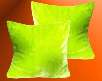Cuddle pillow Case Green gloss different sizes of your choice