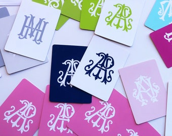 2-Letter Couture Monogrammed Playing Cards, Standard Deck of 52