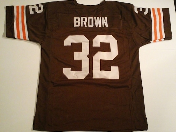 Cleveland Browns Webster Slaughter UNSIGNED CUSTOM Made Brown Jersey 4QiqEnwt