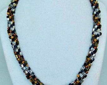 Marvelous Metallics Kumihimo Braid Necklace