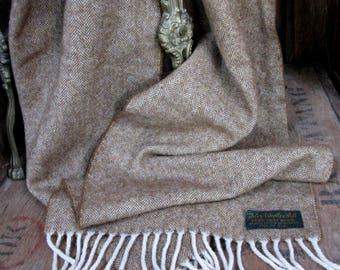 Islay Scarf, Islay Woollen Mill, Pure New Wool, Wool Scarf, Vintage Scarf, Made In Scotland, Vintage Mens Scarf, Scottish Scarf, Tassel