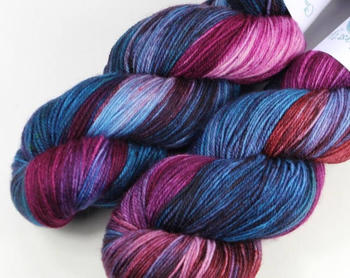Hand dyed yarn. 100g Merino fingering weight (4 ply). Opal #1715.