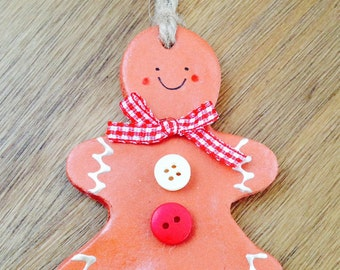 Gingerbread man, Christmas decoration, Rustic decoration, Gingerbread
