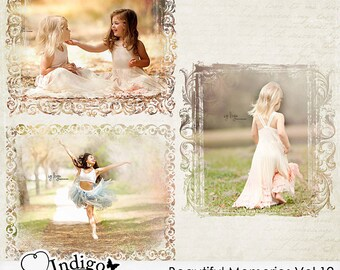 Beautiful Memories Vol.12 Photo Masks - Digital Scrapbook Overlays - Personal and Commercial Use, D027 - Instant Download