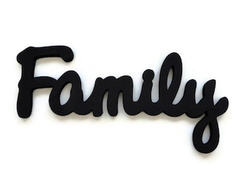 Family Wall Sign - Wooden Lettering - Wall Hanging